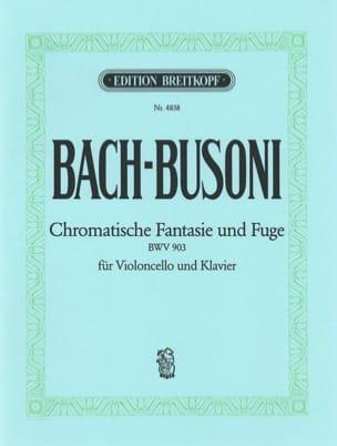 BACH - Chromatische Fantasie und Fuge BWV 903 - Partition - di-arezzo.fr