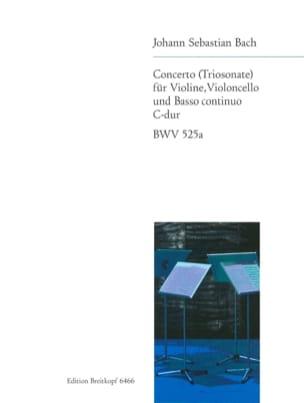 BACH - Concerto C-Dur - Partition - di-arezzo.fr