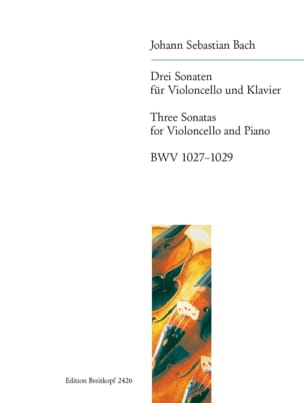 BACH - Drei Sonaten BWV 1027-1029 - Partition - di-arezzo.fr