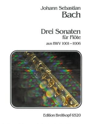 Johann Sebastian Bach - 3 Sonaten aus BWV 1001-06 –Flöte solo - Partition - di-arezzo.fr