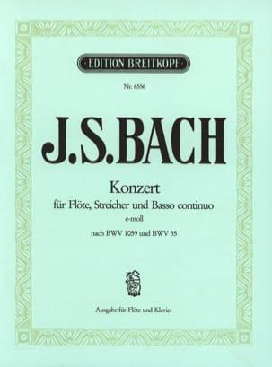 BACH - Flötenkonzert E-Moll Mi Min. - Flûte et Piano - Partition - di-arezzo.fr