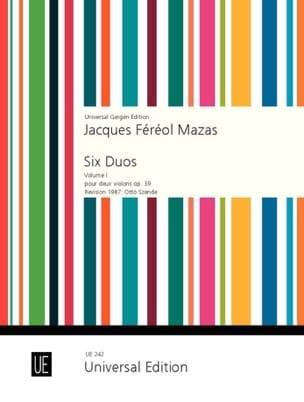 6 Duos op. 39 Volume 1 - Jacques Féréol Mazas - laflutedepan.com