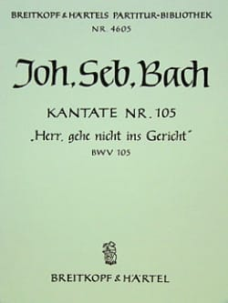 BACH - Kantate 105 Herr, Gehe nicht ins Gericht – Conducteur - Partition - di-arezzo.fr