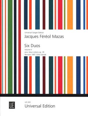 6 Duos op. 39 - Volume 2 - Jacques Féréol Mazas - laflutedepan.com