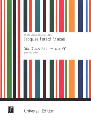 MAZAS - 6 Duos faciles op. 61 - Partition - di-arezzo.fr