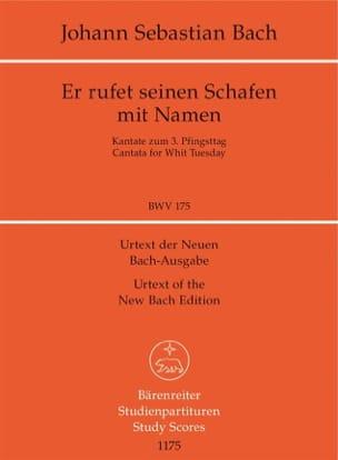 BACH - Er rufet seinen Schafen mit Namen. Kantate BWV 175 - Partition - di-arezzo.fr