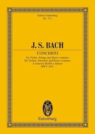 BACH - Violin-Konzert a-moll (BWV 1041) a-moll - Partition - di-arezzo.fr