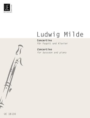 Concertino -Fagott Klavier Ludwig Milde Partition laflutedepan