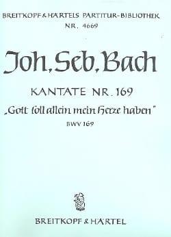 BACH - Kantate 169 Gott soll allein mein Herze haben - Conducteur - Partition - di-arezzo.fr