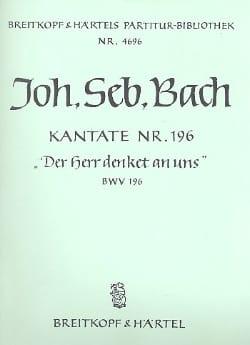 Johann Sebastian Bach - Kantate 196 Der Herr denket an uns – Conducteur - Partition - di-arezzo.fr