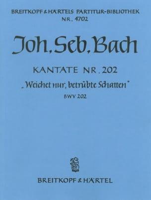 BACH - Kantate 202 Weichet Nur - Conducteur - Partition - di-arezzo.fr