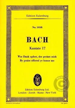 BACH - Wer Dank Opfert, Der Preiset Mich - Sheet Music - di-arezzo.com