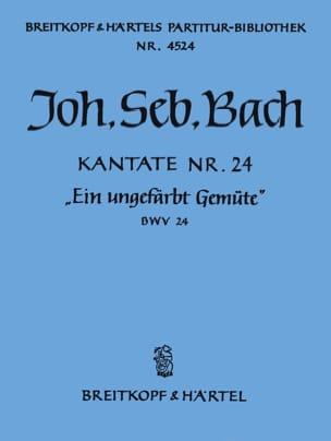 Johann Sebastian Bach - Kantate 24 Ein Ungefärbt - Partition - di-arezzo.fr
