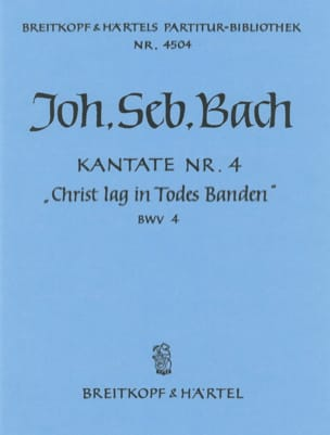 BACH - Kantate 4 Christ Lag In Banden Todes - Sheet Music - di-arezzo.co.uk