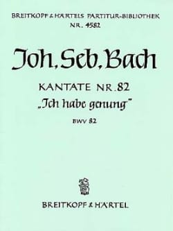 BACH - Kantate 82 Ich Habe Genung - Fassung Bass-Solo - Sheet Music - di-arezzo.co.uk