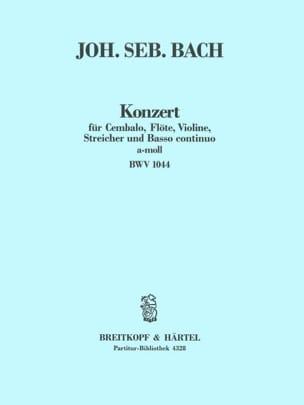 Konzert a-Moll BWV 1044 - Conducteur BACH Partition laflutedepan