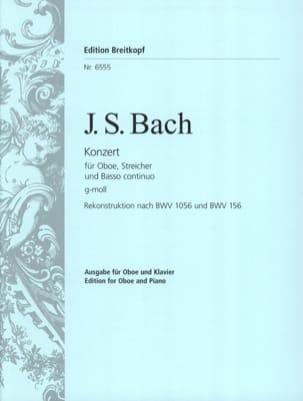 BACH - Oboenkonzert g-moll nach BWV 1056 u. 156 - Oboe Klavier - Partition - di-arezzo.fr