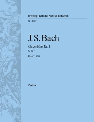 BACH - Ouvertüre Suite Nr. 1 C-Dur BWV 1066 - Conducteur - Partition - di-arezzo.fr
