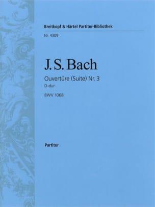 BACH - Ouvertüre Suite Nr. 3 D-Dur BWV 1068 - Conducteur - Partition - di-arezzo.fr