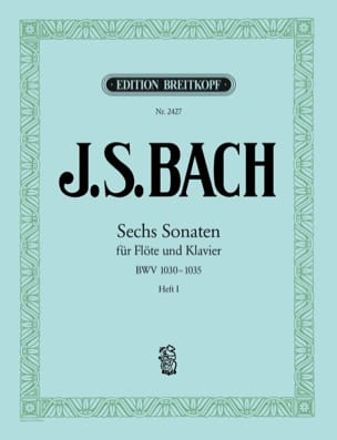BACH - Sechs Sonaten für Flöte und Klavier BWV 1030-1032 - Heft 1 - Partition - di-arezzo.fr