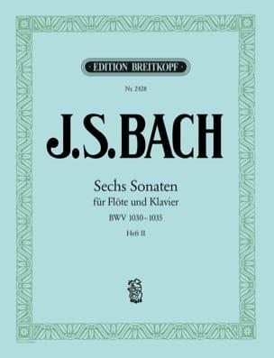 BACH - Sechs Sonaten für Flöte und Klavier BWV 1033-1035 - Heft 2 - Partition - di-arezzo.fr