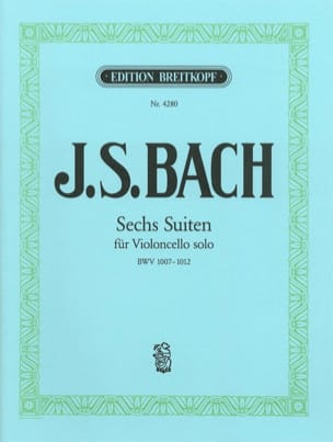 BACH - Sechs Suiten BWV 1007-1012 - Partition - di-arezzo.fr