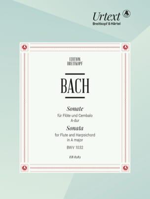 BACH - Sonate A-Dur BWV 1032 - Flöte Cembalo - Partition - di-arezzo.fr