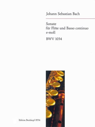 BACH - Sonate e-moll BWV 1034 - Flöte u. Bc - Partition - di-arezzo.fr