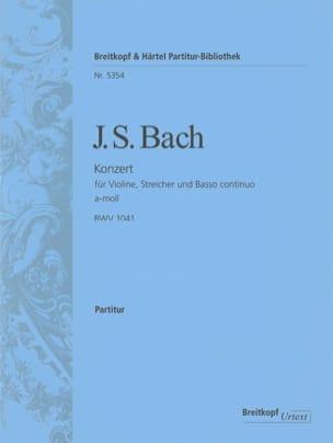 Johann Sebastian Bach - Konzert A-Moll BWV 1041 - Violine – Conducteur - Partition - di-arezzo.fr