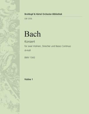 BACH - Violinkonzert d-moll BWV 1043 - Partition - di-arezzo.fr