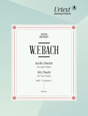 Wilhelm Friedemann Bach - 6 Duette, Heft 1 - 2 flutes - Partition - di-arezzo.co.uk