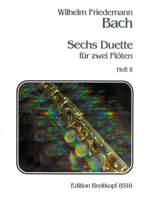 Wilhelm Friedemann Bach - 6 Duette, Heft 2 - 2 Flöten - Sheet Music - di-arezzo.co.uk