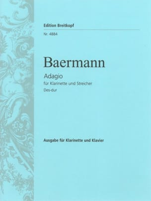 Heinrich Joseph Baermann - Adagio in Des-Dur – Klarinette Klavier - Partition - di-arezzo.fr