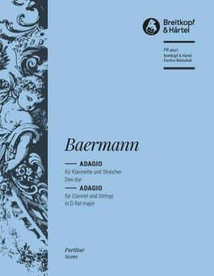 Heinrich Joseph Baermann - Adagio Des-Dur - Partition - di-arezzo.fr