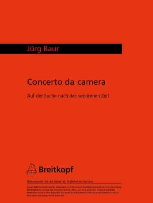 Jürg Baur - Concerto da Camera - Blockflöten Klavier - Partition - di-arezzo.fr