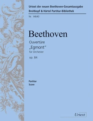 BEETHOVEN - Opening Egmont op. 84 - Partitur - Sheet Music - di-arezzo.co.uk