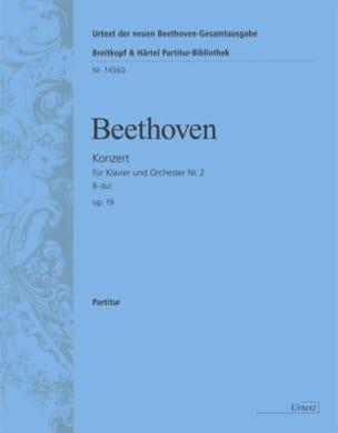 BEETHOVEN - Klavierkonzert Nr. 2 B-Dur - Partitur - Partition - di-arezzo.fr