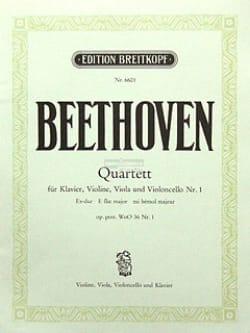 BEETHOVEN - Quartett Es-Dur Nr. 1 - Stimmen - Sheet Music - di-arezzo.com