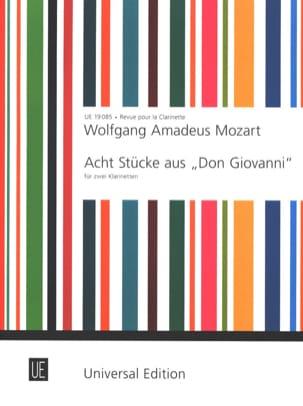 MOZART - Acht Stücke aus Don Giovanni - 2 Klarinetten - Partition - di-arezzo.co.uk