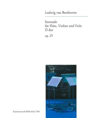 Ludwig van Beethoven - Serenade op. 25 D-Dur –Flöte Violine Viola - Stimmen - Partition - di-arezzo.fr