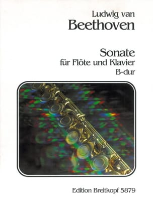 Sonate B-Dur - Flöte Klavier BEETHOVEN Partition laflutedepan