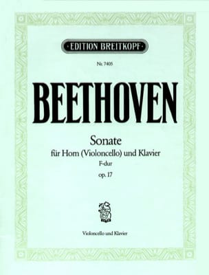 Ludwig van Beethoven - Sonate F-Dur op. 17 - Violoncelle - Partition - di-arezzo.fr