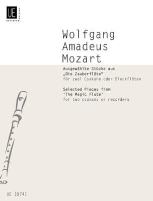 MOZART - Ausgewählte Stücke aus Die Zauberflöte für 2 Csakane oder Blockflöten - Sheet Music - di-arezzo.com