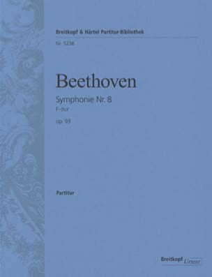 BEETHOVEN - Symphonie Nr. 8 F-dur op. 93 - Partition - di-arezzo.fr