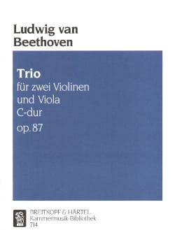 BEETHOVEN - Trio C-hard op. 87 - Stimmen - Sheet Music - di-arezzo.co.uk