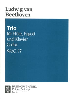 BEETHOVEN - Trio G-Dur WoO 37 - Klavier Fagott Floe - Sheet Music - di-arezzo.co.uk