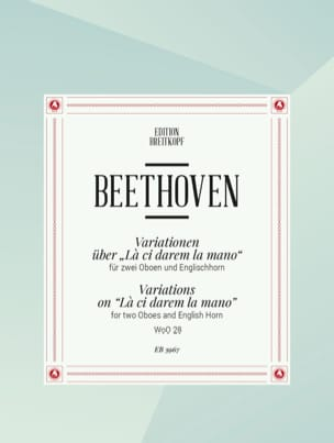 BEETHOVEN - Variationen über The ci darem the mano - 2 Oboen Englischhorn - Sheet Music - di-arezzo.com