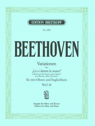 BEETHOVEN - Variationen über La ci darem the mano WoO 28 - Oboe Klavier - Sheet Music - di-arezzo.co.uk