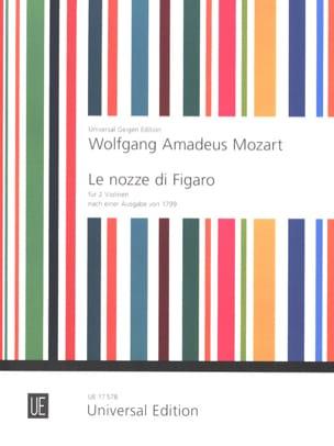 Die Hochzeit des Figaro für 2 Violinen - MOZART - laflutedepan.com