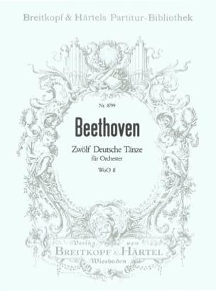 BEETHOVEN - Zwölf deutsche Tänze WoO 8 - Partition - di-arezzo.fr